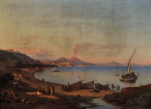 Johann Georg Gmelin (German, 1810-1854)      The Bay of Naples