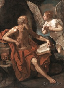 After Guido Reni (Italian, 1575-1642)      Angel Appearing to St. Jerome