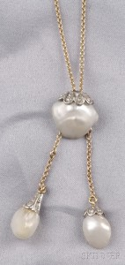 Baroque Pearl and Diamond Negligee