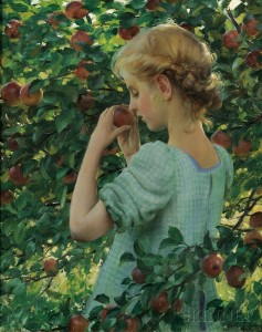 Charles Courtney Curran (American, 1861-1942)      Apple Perfume