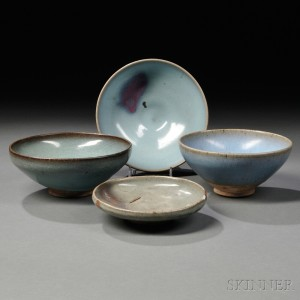 Four Jun Ware-style Items
