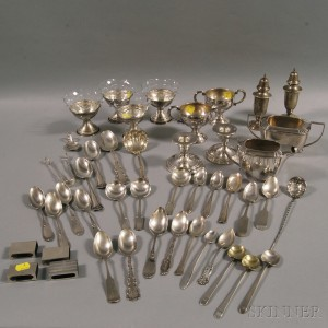 Group of Sterling Silver and Silver-plated Tableware and Flatware