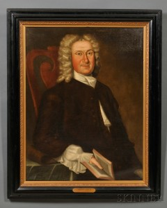 Attributed to John Greenwood (Massachusetts, 1727-1792      Portrait of Thomas Child (16-- 1751),