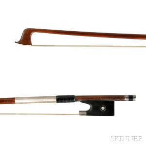 German Silver-mounted Violin Bow, Tubbs Model