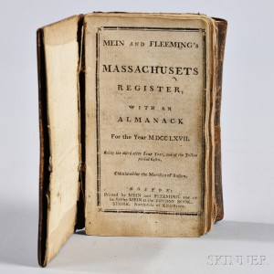 Mein and Fleeming's Massachusets Register, with an Almanack for the Year 1767.