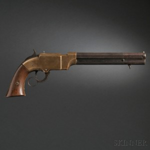 Sold for: $10,200 - Volcanic Arms Navy Model Lever Action Repeating Pistol