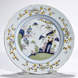 Polychrome Decorated Tin-glazed Earthenware Plate