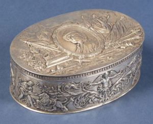 French Silver Benjamin Franklin Jewel Box