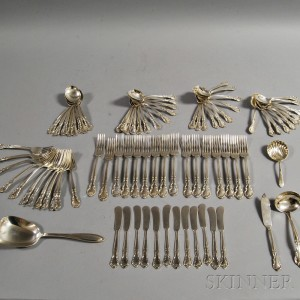 """Eighty-two Pieces of Easterling """"American Classic"""" Sterling Silver Flatware"""
