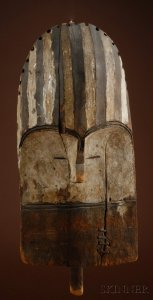 Sold for: $106,650 - Rare African Carved Wood Mask