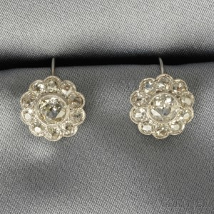 Diamond Flowerhead Earrings