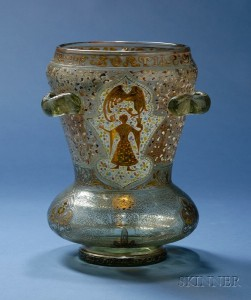 Sold for: $10,073 - Large Emile Galle Islamic Style Vase