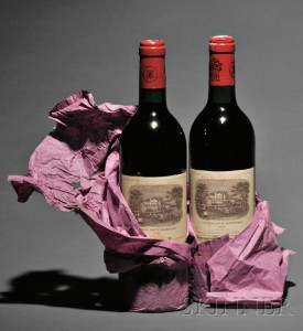 Sold for: $37,665 - Chateau Lafite Rothschild 1982