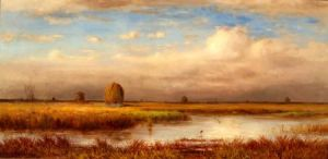 William Ferdinand Macy (American, 1852-1901)    Marshes / An Autumn View