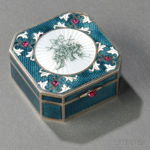 Austrian .950 Silver and Guilloche Enamel Box