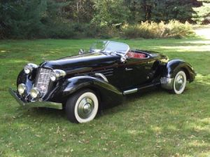 Sold for: $19,975 - Auburn Boattail Speedster Style Convertible Automobile