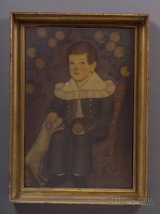 Sold for: $886,000 - Portrait of Edward Reed Dorr (1808-1880) Seated in a Fancy Chair      Boston, early 19th century