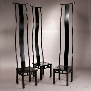 Three Ming Chairs By JinR From The Green T. Series