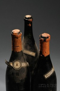 Sold for: $60,750 - Domaine de la Romanee Conti, Romanee Conti 1911