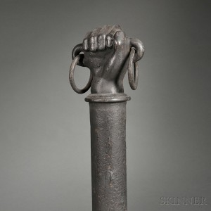 Cast Iron Hitching Post with Fist Finial