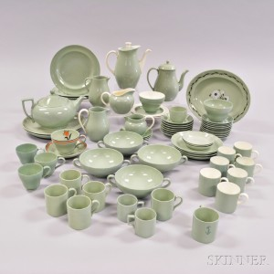 """Seventy Wedgwood """"Celadon,"""" """"Winter Green,"""" and """"Orient Line"""" Tea and Tableware Items."""