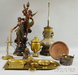 Group of 19th and 20th Century Mostly Metal Decorative Items