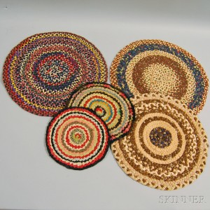 Five Braided Fabric Mats