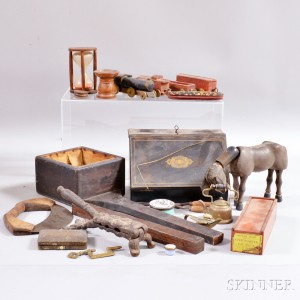 Group of Decorative Desk Accessories and Toys