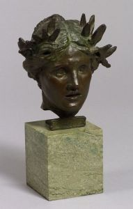 Sold for: $127,000 - Augustus Saint-Gaudens (American, 1848-1907)    Head of Victory, Nikh-Eiphnh