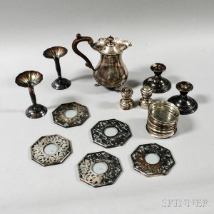 Group of Sterling Silver Tableware Items
