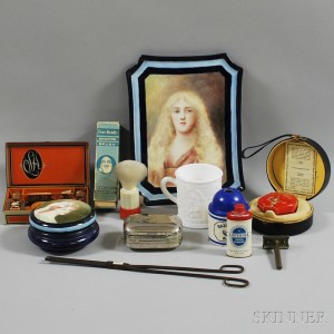 Group of Vintage and Antique Bathroom Accessories