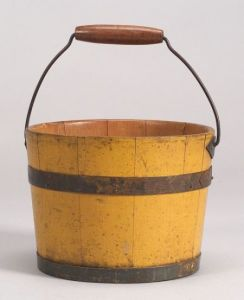 Yellow Painted Shaker Pail