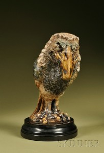 Sold for: $82,950 - Martin Brothers Glazed Stoneware Barrister