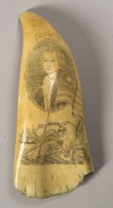 Sold for: $27,025 - Engraved Whale Tooth