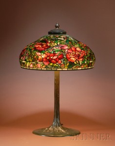 Sold for: $435,000 - Tiffany Studios Leaded Glass and Bronze