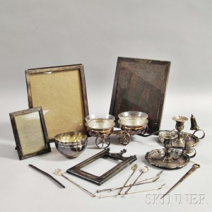 Eighteen Sterling Silver and Silver-plated Items