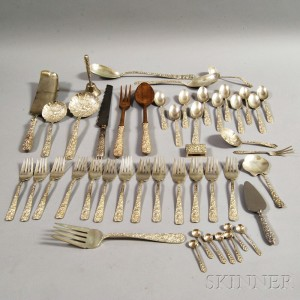 Forty-seven Pieces of Sterling Silver Flatware