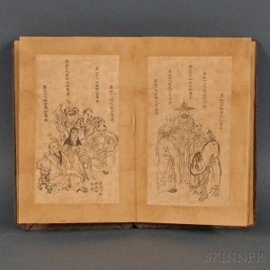 Woodblock Print Album Depicting One Hundred Luohans