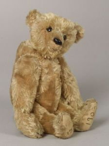Sold for: $17,625 - Steiff Golden Beige Mohair Rod Bear