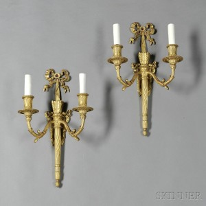 Search All Lots Skinner Auctioneers - Two light bathroom sconce