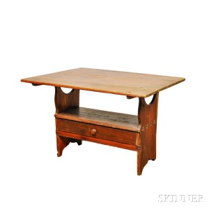 Bon Country Pine One Drawer Hutch Table