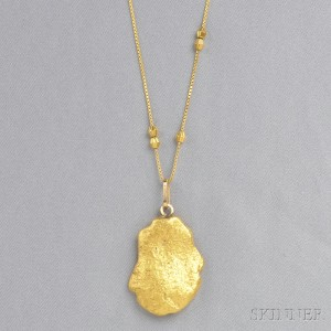 Search all lots skinner auctioneers gold nugget pendant aloadofball Images