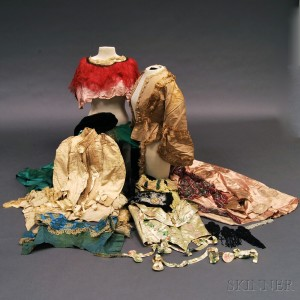Collection of 19th Century Lady's Bodices and Embellished Fabric