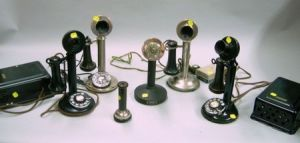 Five Candlestick Telephones
