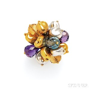 18kt Gold Gem-set Ring, Roberto Coin
