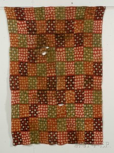 Sold for: $5,333 - Pre-Columbian Tie-Dye Textile