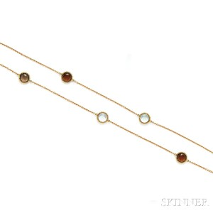 18kt Gold Gem-set Longchain, Roberto Coin