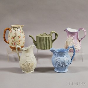 Five Staffordshire Vessels