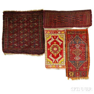 Four Oriental Small Rugs