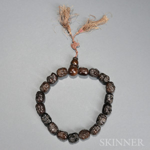 Carved Hardstone Prayer Beads